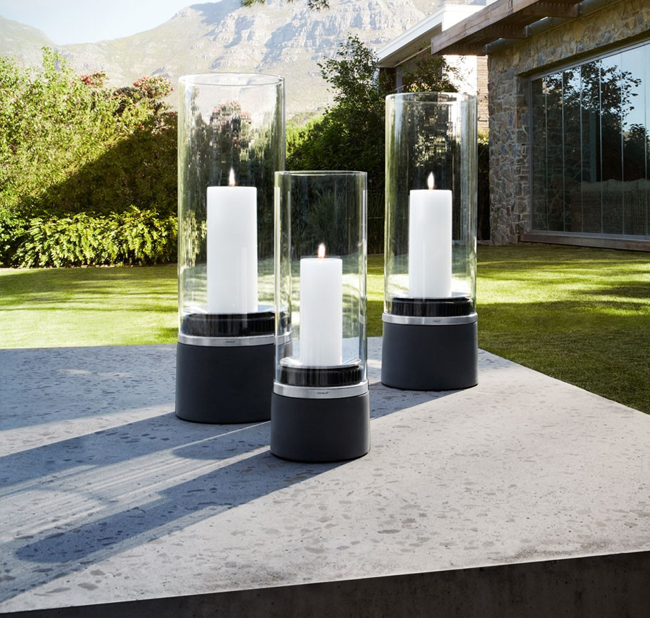 Blomus piedra windlicht mit kerze for Outdoor windlicht