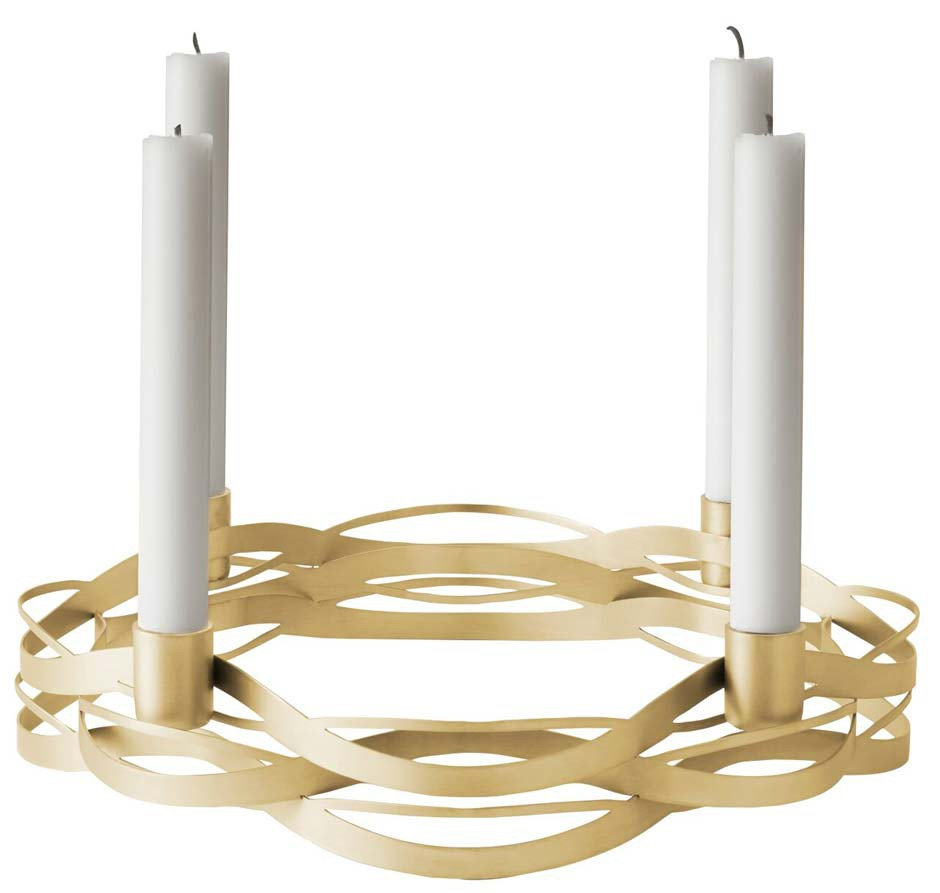 Stelton Tangle Advent Kerzenhalter Messing Ansicht 1